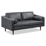 Kate Genuine Leather 72 Square Arm Sofa by Foundry Select