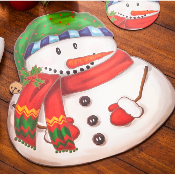 Brianna Solid Snowman 5 Placemat (Set of 4) by The Holiday Aisle