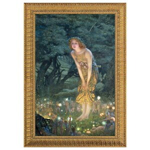 Midsummer Eve, 1908 by Edward Robert Hughes Framed Painting Print by Design Toscano