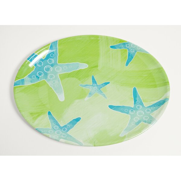 Yacht and Home Starfish Melamine Oval Platter by Galleyware Company