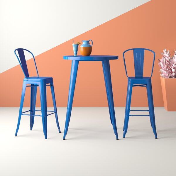 Lucien 3 Piece Bar Height Dining Set by Hashtag Home