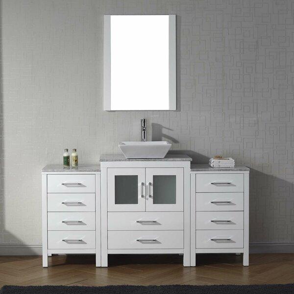 Cartagena 60 Single Bathroom Vanity Set with Mirror by Mercury Row
