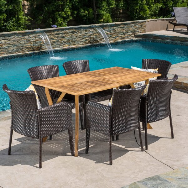 Maegan 7 Piece Dining Set by Bay Isle Home