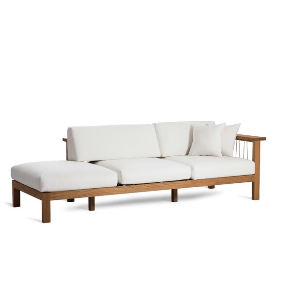 Maro Teak Chaise Lounge with Cushion by OASIQ