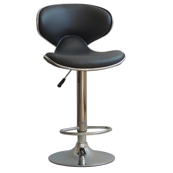 Husby Adjustable Height Swivel Bar Stool by Orren Ellis