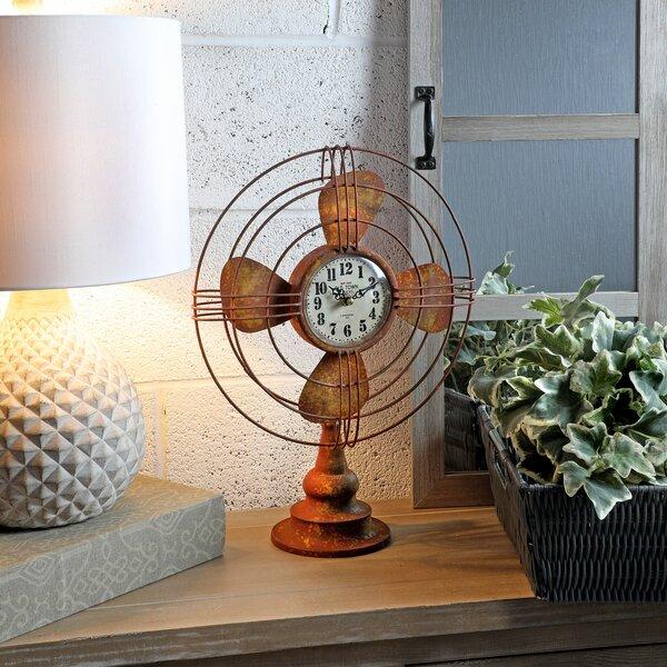 Fan Metal Tabletop Clock by Williston Forge