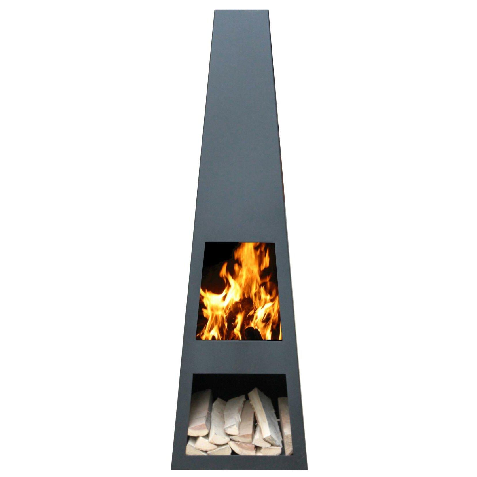 contemporary chiminea - gardenmaxx vilos steel chiminea reviews wayfaircouk