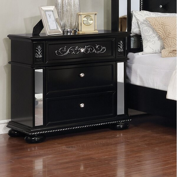 Orrington 3 Drawer Nightstand by Everly Quinn