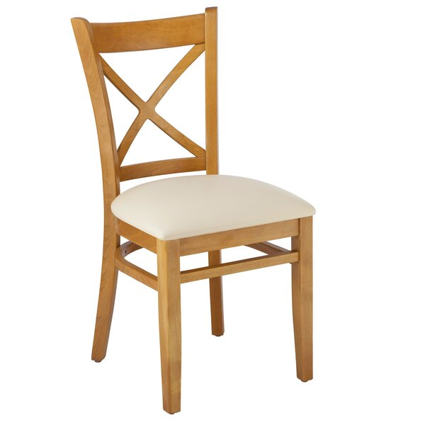 Hubbardston Cross Back Solid Wood Dining Chair (Set of 2) by August Grove