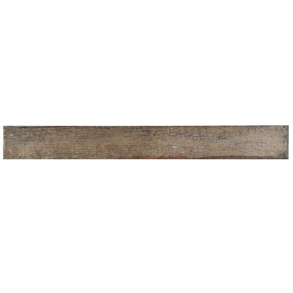 Rama 2.75 x 23.5 Porcelain Wood Look/Field Tile in Brown by EliteTile