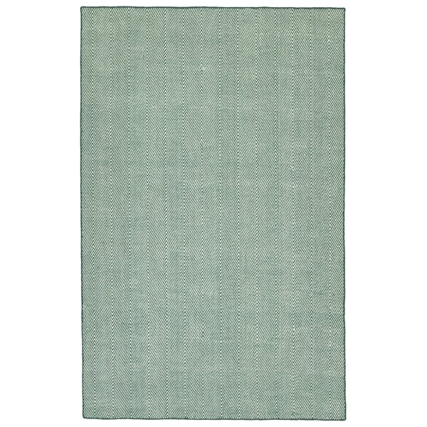 Buell Hand Woven Teal Indoor/Outdoor Area Rug by Ivy Bronx