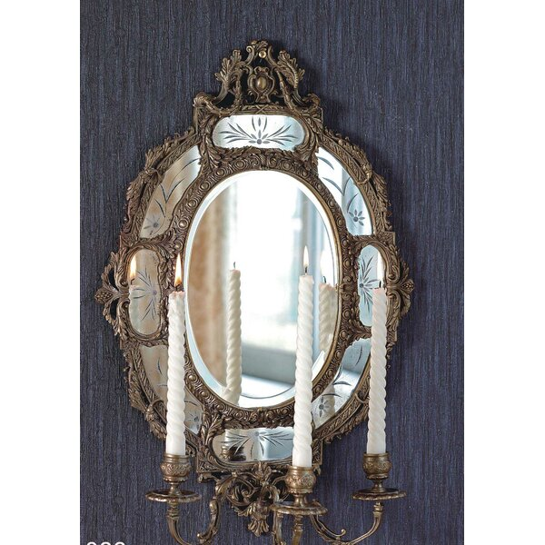 Hanging Candlestick Accent Wall Mirror by Westmen Lights