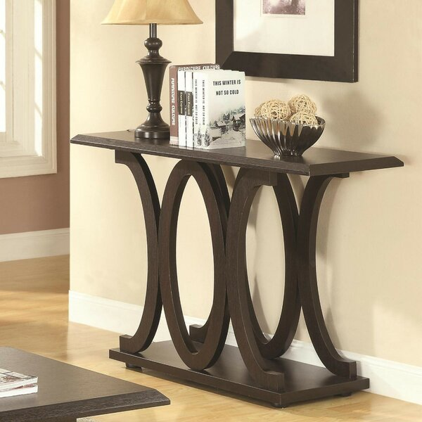 Review Eibhlin Contemporary C-Shaped Console Table