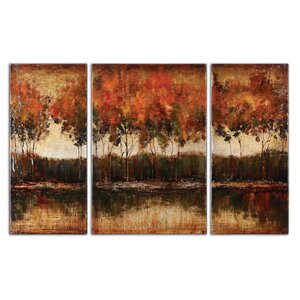 'Trilakes' 3 Piece Photographic Print on Canvas Set by Darby Home Co