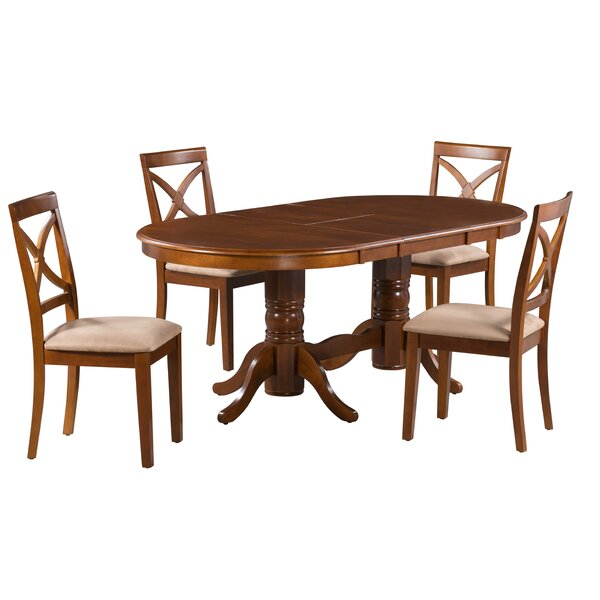 Sydney 5 Piece Extendable Solid Wood Dining Set by Alcott Hill