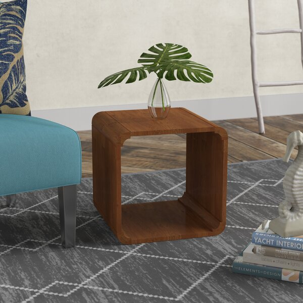 Mediouna Wood End Table by Bungalow Rose