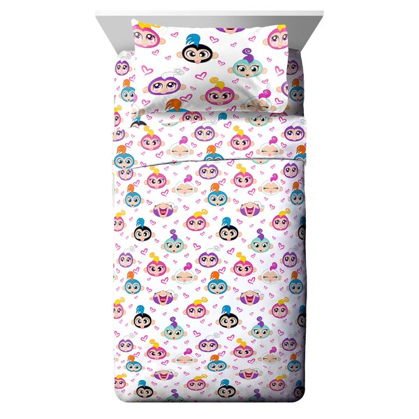 Fingerlings Monkey Around Reversible Comforter Set (Set of 4) by Fingerlings