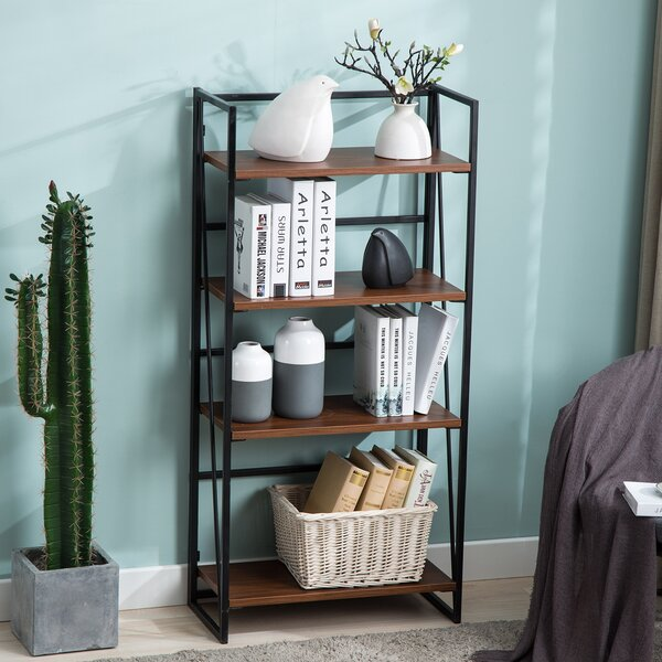 Beachwood 4 Tier Foldable Etagere Bookcase By Williston Forge
