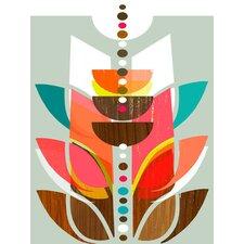 'Modern Topiary' by Linda Ketelhut Painting Print on Canvas