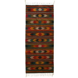 Artisan Crafted Multicolor Star Themed Hand Woven Mexican Naturally Dyed Wool Home Decor Area Rug