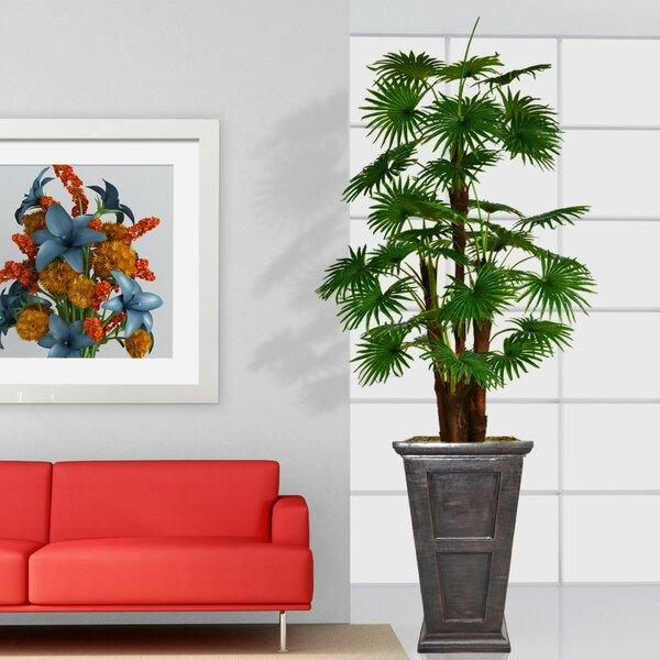Artificial Indoor/Outdoor Décor Floor Palm Tree in Planter by Red Barrel Studio