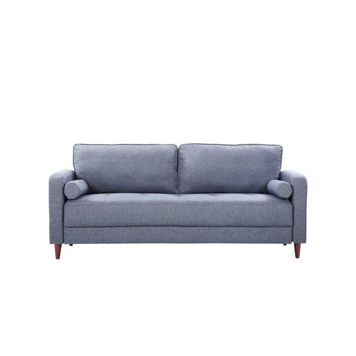 Remarkable Mid Century Modern Linen Fabric Living Room Sofa Dailytribune Chair Design For Home Dailytribuneorg