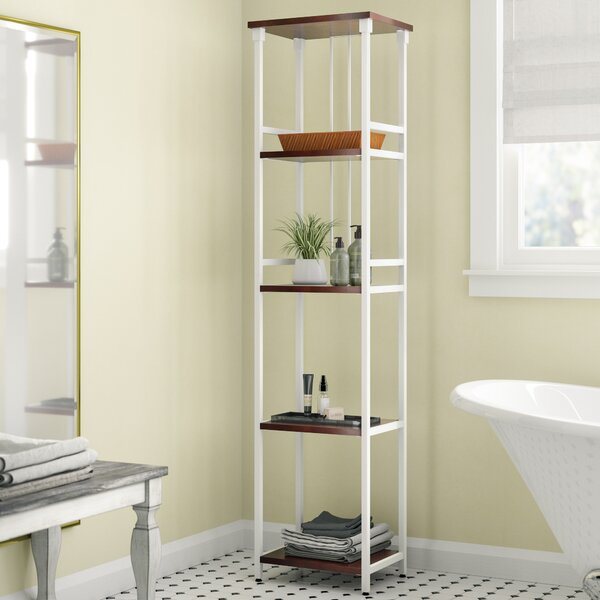 Huette Mixed Material 5-Tier 16 W x 66 H Bathroom Shelf by The Twillery Co.