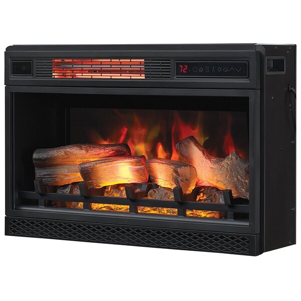 Doshi 3D Infrared Wall Mounted Electric Fireplace Insert by Ebern Designs
