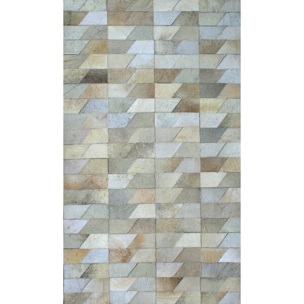 Patchwork Geo Faded Gray Area Rug by Modern Rugs