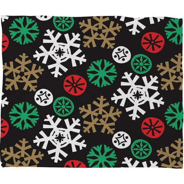 Zoe Wodarz Cozy Cabin Snowflakes Plush Fleece Throw Blanket by Deny Designs