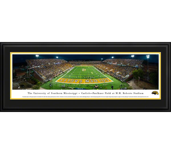 NCAA Southern Mississippi, University of Framed Photographic Print by Blakeway Worldwide Panoramas, Inc