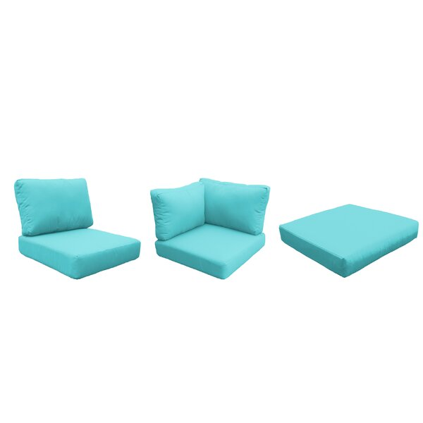 East Village Outdoor 21 Piece Lounge Chair Cushion Set by Rosecliff Heights