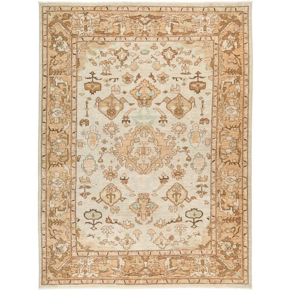 One-of-a-Kind Dexter Hand Knotted Wool Beige Area Rug by Isabelline
