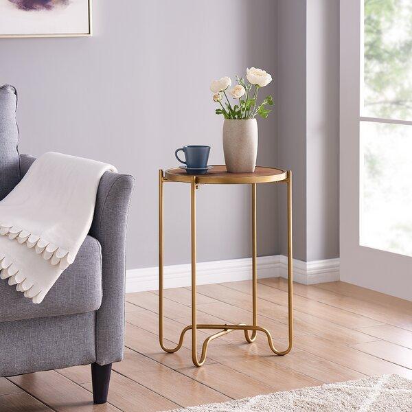 Munroe Cross Legs End Table By Wrought Studio