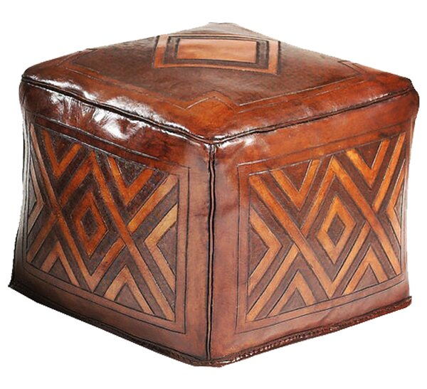 Shoping Leather Cube Ottoman