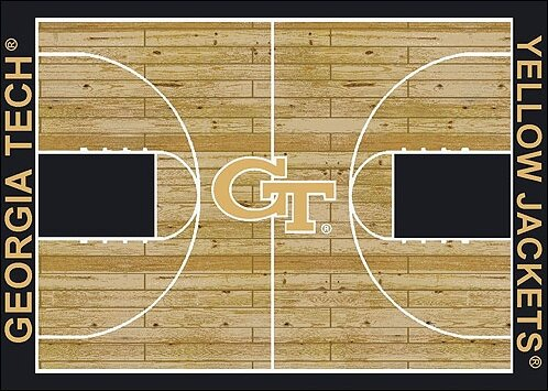NCAA College Home Court Georgia Tech Novelty Rug by My Team by Milliken