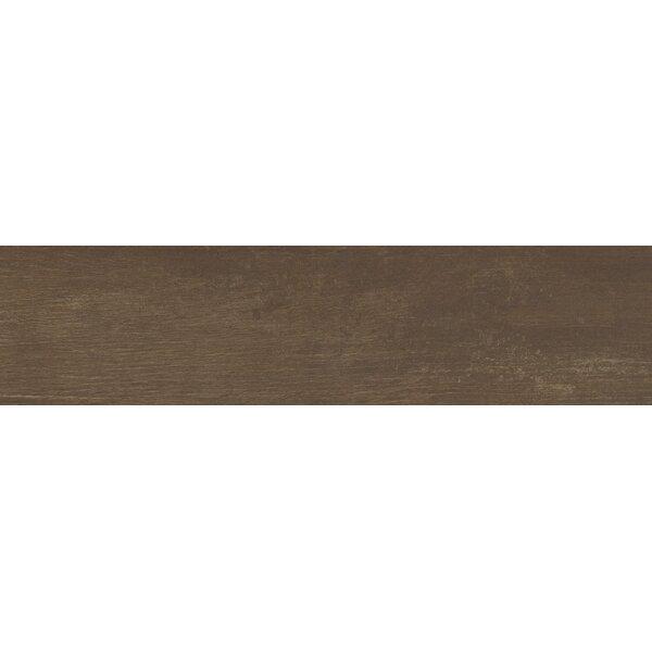 Helena Java 6 x 40 Porcealian Wood Look Tile in Brown by MSI