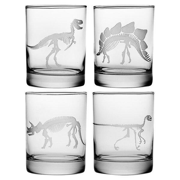 Jurassic Rocks Glass (Set of 4) by Susquehanna Glass