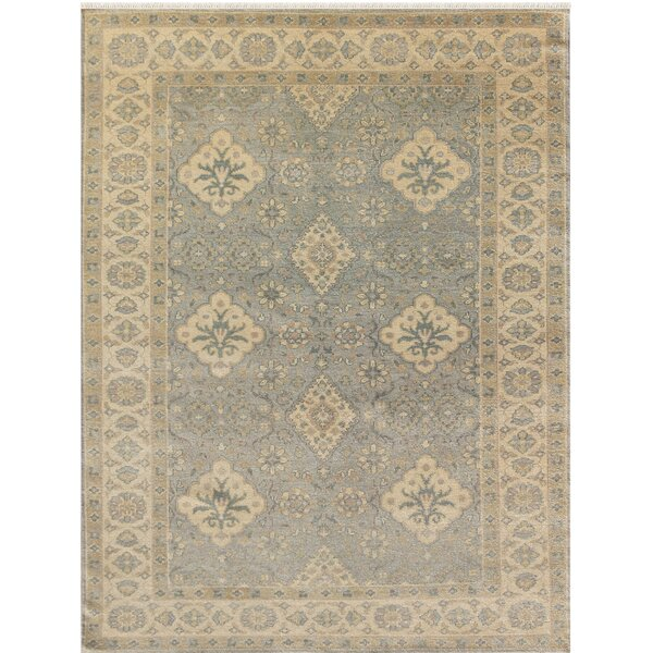 Liverpool Hand-Knotted Blue Area Rug by Alcott Hill