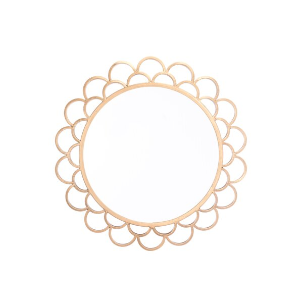 Ro Circular Accent Mirror by Everly Quinn