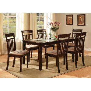 Rectangle Glass Dining Table glass rectangular kitchen & dining tables you'll love | wayfair