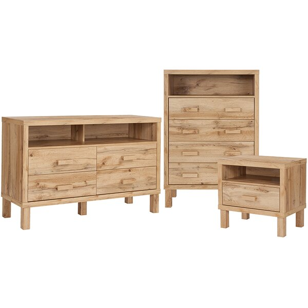 Manon 3 Piece Dresser and Chest Set by Millwood Pines