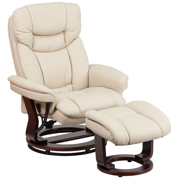 Eudy Manual Swivel Recliner with Ottoman by Latitu