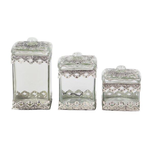 Azalea Traditional 3 Piece Urn Set by House of Hampton