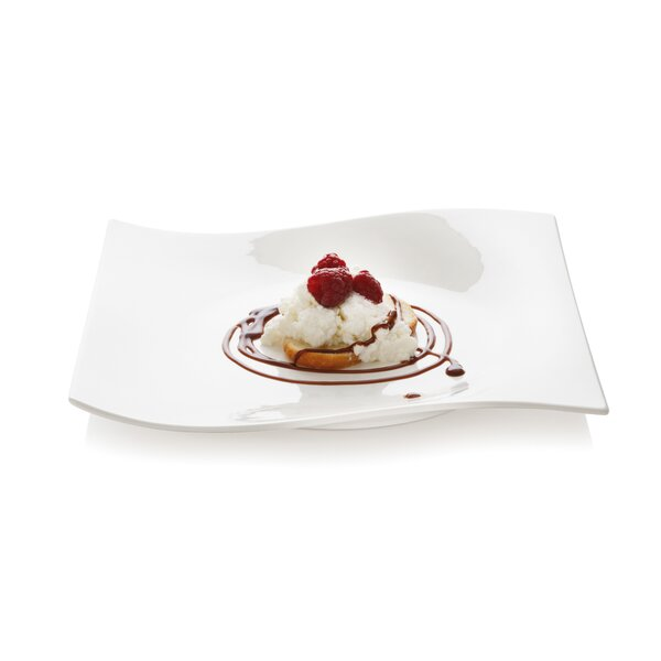 White Basics Motion Square Platter (Set of 2) by Maxwell & Williams