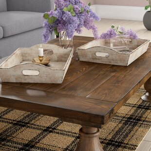 Hargrave Wood 2 Piece Accent Tray Set