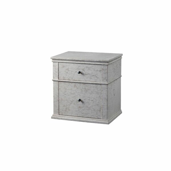 Grable Fabric Upholstered Wooden 2 Drawer Nightstand by Gracie Oaks