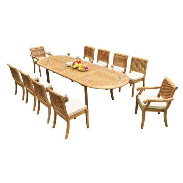 Masten 11 Piece Teak Dining Set by Rosecliff Heights