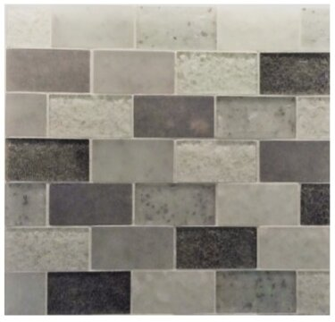 Lakeview 14 x 16 Glass Mosaic Tile in St Barth by Kellani