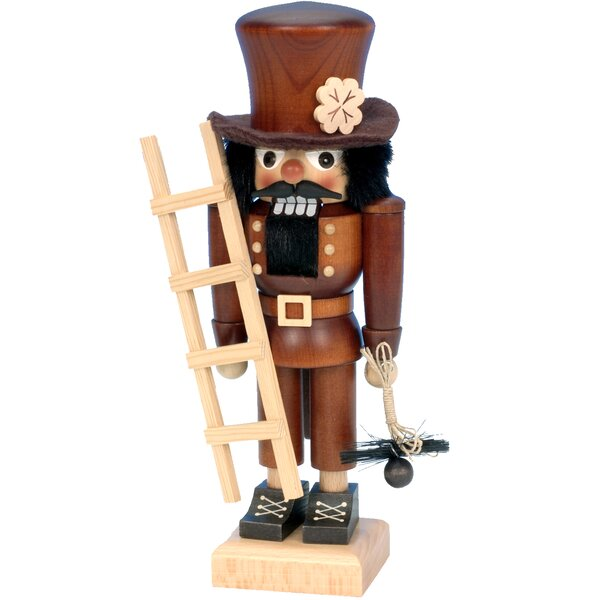Ulbricht / Seiffener Nussknackerhaus Chimney Sweep Nutcracker in Natural Wood by Alexander Taron